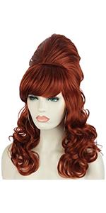 long wavy beehive wigs