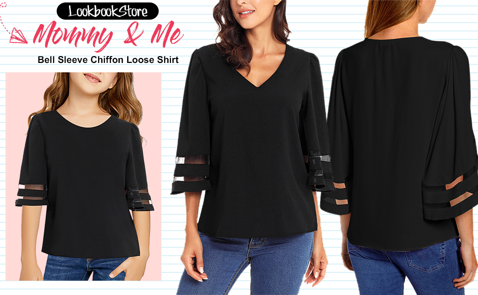 women mesh panel blouse