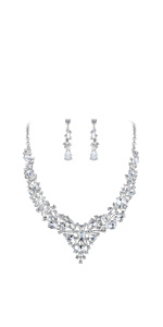 bridal jewelry prom necklace sets for bride