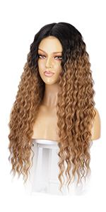 long curly wig for women