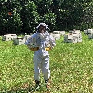 kasy in a field natural beekeeping propolis throat spray harvesting