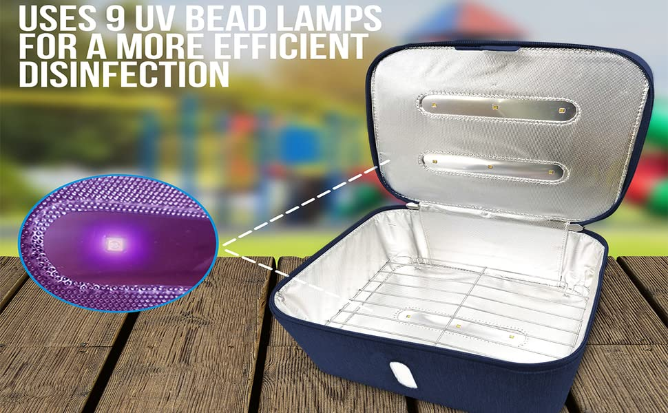 uv sterilization bag with bead lamps