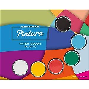 Kryolan Pintura Water Color Palette