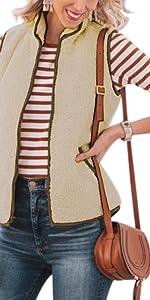 fleece vest for women zip up