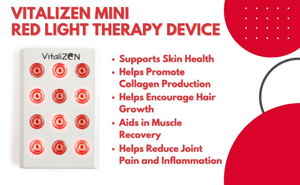 vitalizen mini red light therapy device