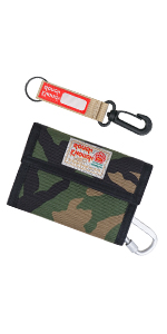 Rough Enough Camo Keychain Wallet for Boys Kids with Credit Card Holder Front Pocket Wallet for Boys
