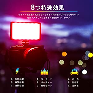 特殊効果撮影ライト 超薄超軽量
