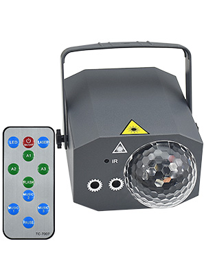 Sound Activated Party Lights Disco Ball Light, Kuniwa 2 in 1 Laser Strobe Lights Projector