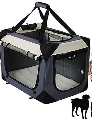 EUGAD Transportin para Perros Plegable Bolsa de Transporte Gatos Mascotas para Coche Viaje Avion Portador Tela Oxford L/70x52x52 cm, Gris 0142HT: Amazon.es: Productos para mascotas