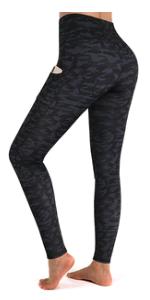 Leggings Damen Hohe Taille Sporthose Fitness Leggings mit Taschen Tights Pant Jogginghose Yogahose