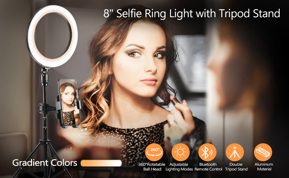 """8"""" Selfie Ring Light with Tripod"""