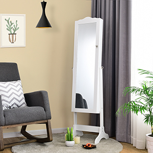 A Combination of Dressing Mirror and Cabinet