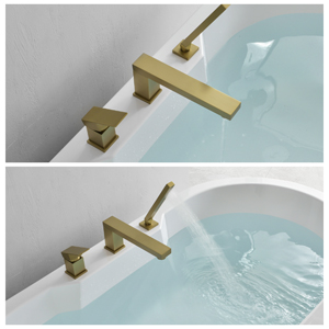 Bathtub faucet with handheld shower
