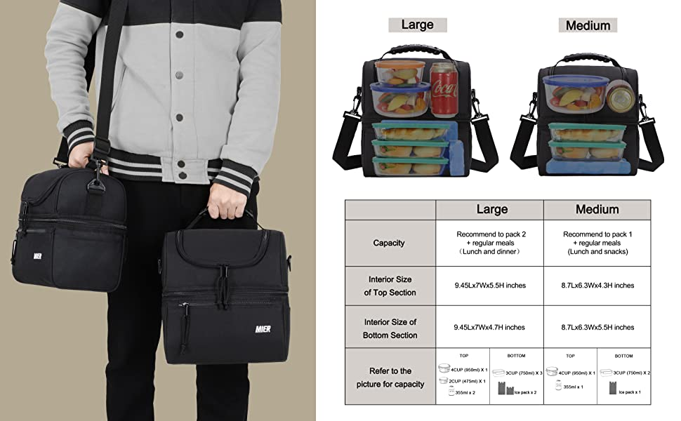 large lunch bag