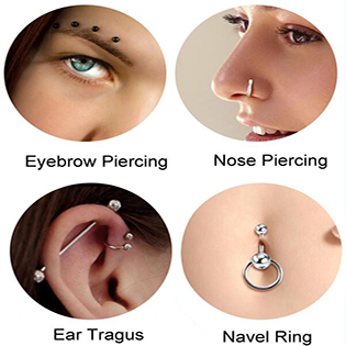 Incaton Forward Helix Hewelry Earring,16G Gold Cartilage Tragus Stud Earrings Lip Body Jewelry Piercing Ring
