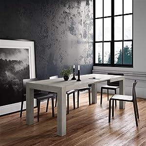 table extensible, table a rallonge, table design, table rectangulaire, table de salle à manger