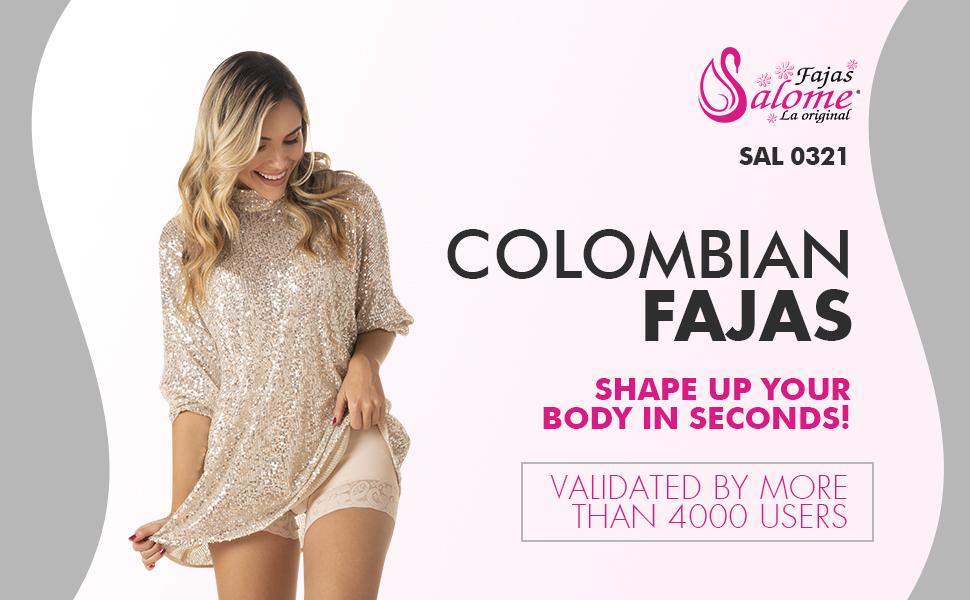Salome Fajas Colombianas Reductoras y Moldeadoras Postparto Full Body Shaper for Women