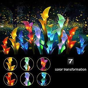 7 LED color  transformation