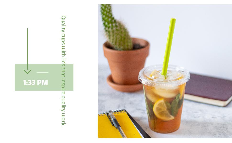 work tea plastic cups with lids lemon disposable quality office