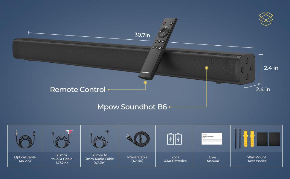 40W soundbar