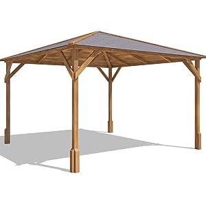 Cenador de madera Utopia 300 de 3 x 3 m, hecho de madera tratada a presión