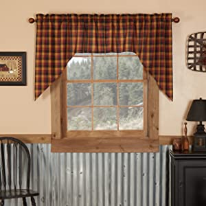 Heritage Farms Curtain primitive country rustic Americana VHC Brands window tier swag valance panel