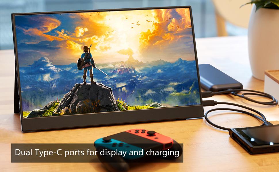 15.6 portable monitor gaming monitor usb type c monitor USB-C monitor Full HD monitor for laptop  Portable Monitor – Cocopar Portable Display with HDMI Port (Black) a2c4b5fb 9a89 460d ab61 b46042dbbd3d