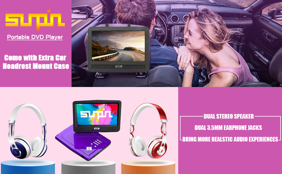 portable dvd player for car with headrest mount portable dvd player all region portable dvd player