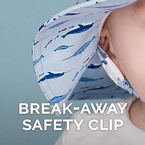 safety clip, chin strap, sun hat, boys girls