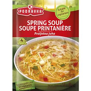 Podravka spring soup vegetable clear warm serving vegan, Carrot, celery, onion, peppers, leek,