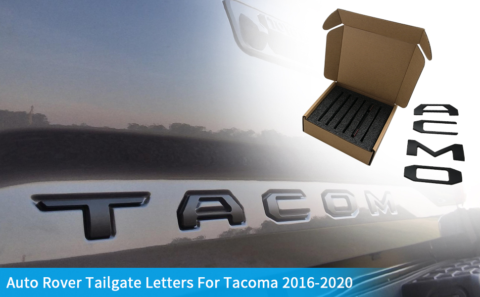 Auto Rover Tailgate Letters For Tacoma 2016-2020