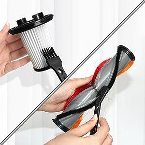 Flexible Elektrische Bürste mit LED Scheinwerfern