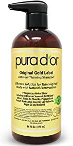 Amazon.com : PURA DOR Original Gold Label Anti-Thinning ...