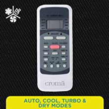 Auto, Cool, Turbo & Dry Modes