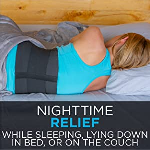 nighttime relief while sleeping or laying down with lower back pain