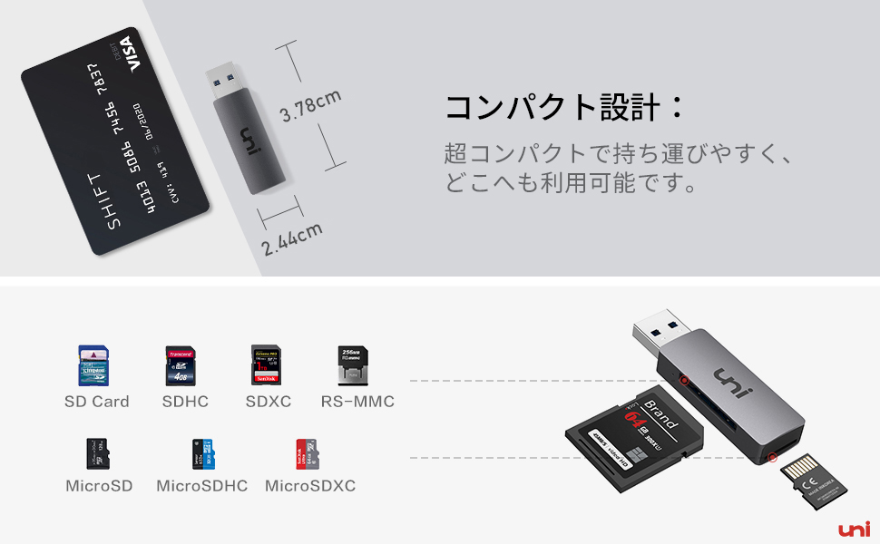 USB SDカードリーダー  (5)
