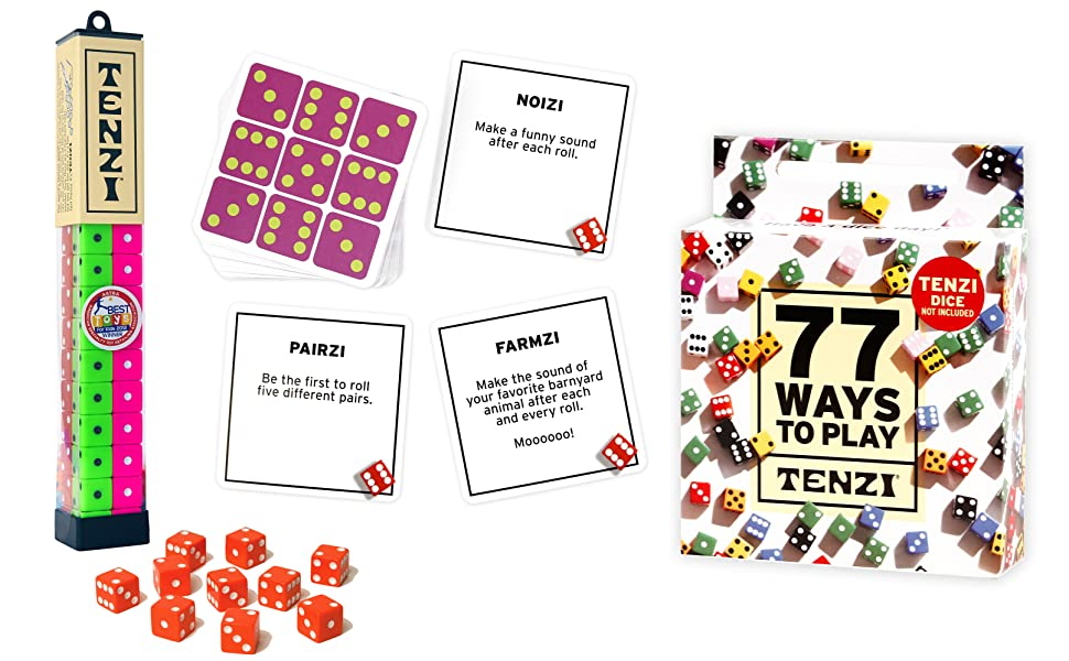 TENZI party pack dice game bundle is a fun, fast, frenzy for any game night or birthday party