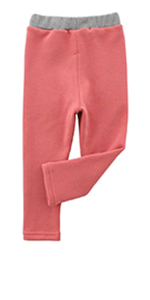 Toddler Fleece Lined Leggings Soft Warm Pants