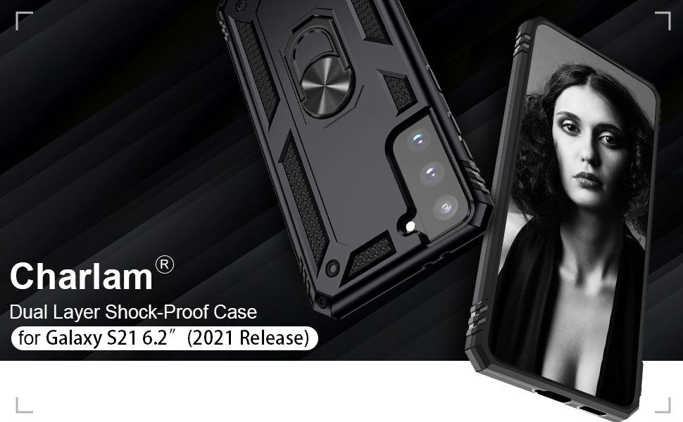 Charlam Samsung Galaxy S20 Case Heavy Drop Protection Shock Absorption Cover Case