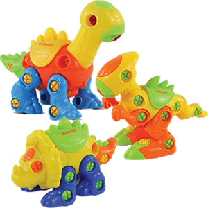 dinosaur toys trex brontosaurus triceratops building models take apart engineering