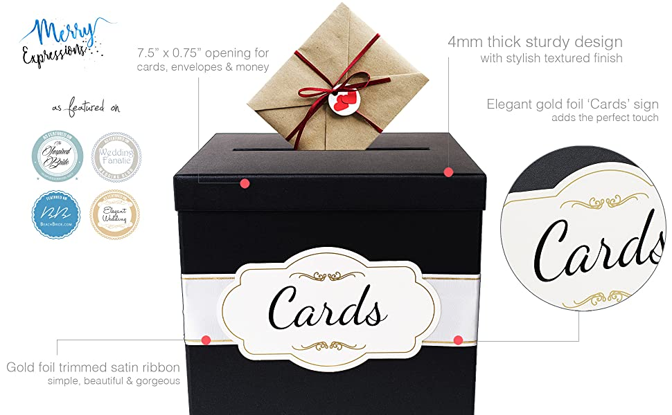 High quality black gift card box