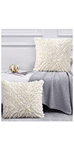 cream pillow covers
