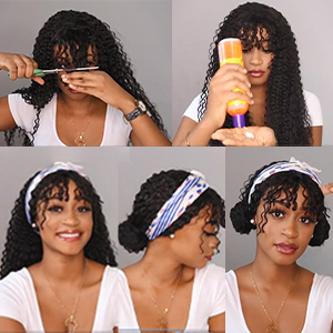 lace front wigs human hair wigs bangs kinky curly human hair wigs bangs curly human hair wigs bangs