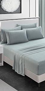 bedding sets queen green