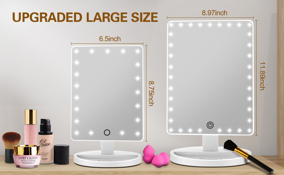 UPGRADED LARGE SIZE  Makeup Vanity Mirror with Lights
