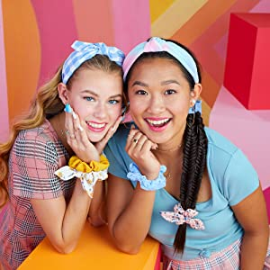 Claire's fabric headbands collection, unique designs, cute patterns, hair essentials for girls