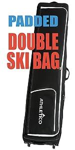 Double-Up Wheeled, PADDED Ski Bag