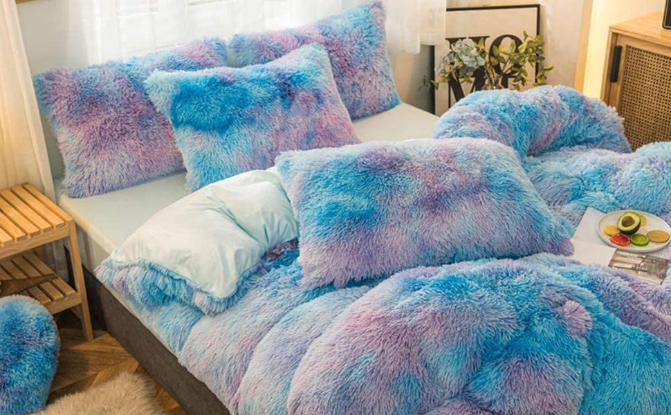 fluffy queen comforter sets velvet bedding set