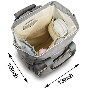 Durable Maternity Baby Nappy Bags for Boys and Girls, Grey 3