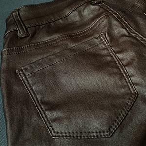 coffee women faux leather pants